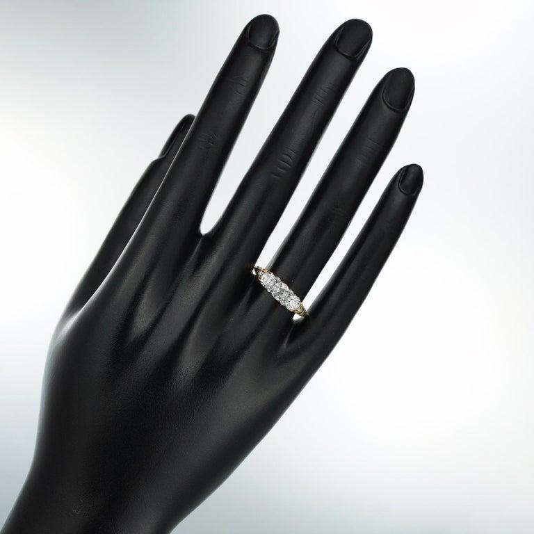 Victorian Three-Stone Diamond Ring For Sale 1