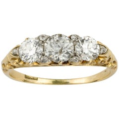 Victorian Three-Stone Diamond Ring