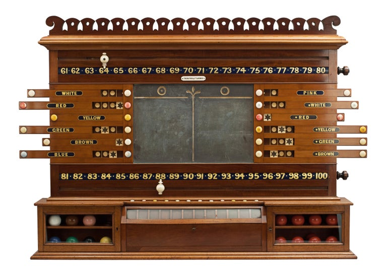 Antique Thurston Billiard, snooker and life pool scoreboard.
