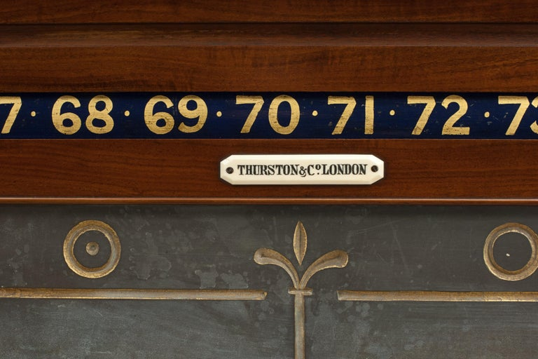 Victorian Thurston Billiard, Snooker and Life Pool Scoreboard Mahogany In Good Condition For Sale In Oxfordshire, GB