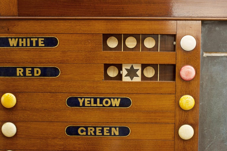Late 19th Century Victorian Thurston Billiard, Snooker and Life Pool Scoreboard Mahogany For Sale