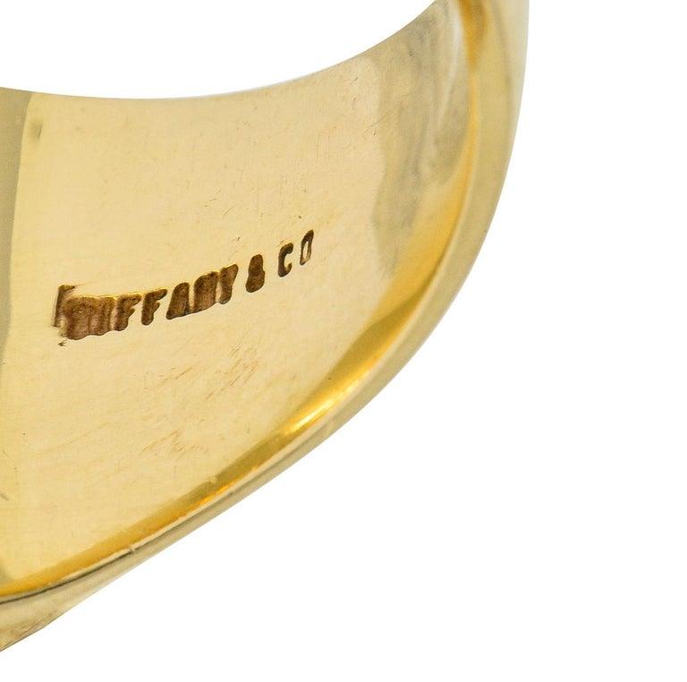 Victorian Tiffany & Co. Enamel 14 Karat Gold Unisex Gryphon Signet Ring For Sale 1