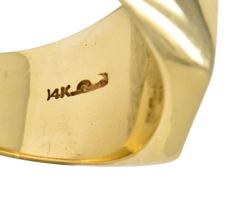 Victorian Tiffany & Co. Enamel 14 Karat Gold Unisex Gryphon Signet Ring For Sale 2