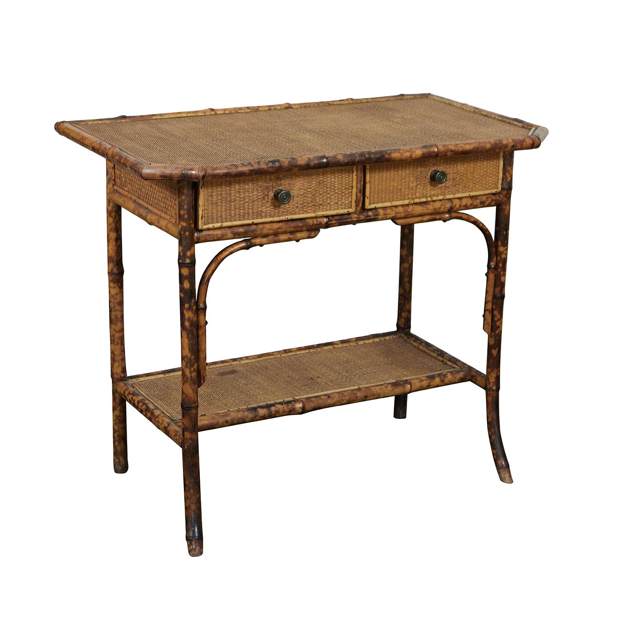 Victorian Tiger Bamboo Table Or Desk
