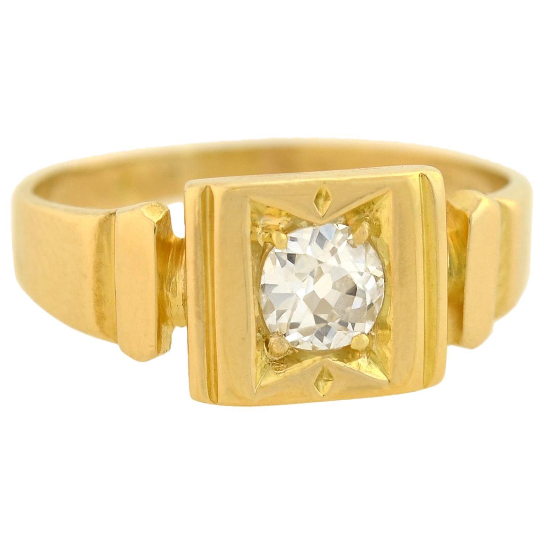 Victorian 'Token of Love' Mine Cut Diamond Ring
