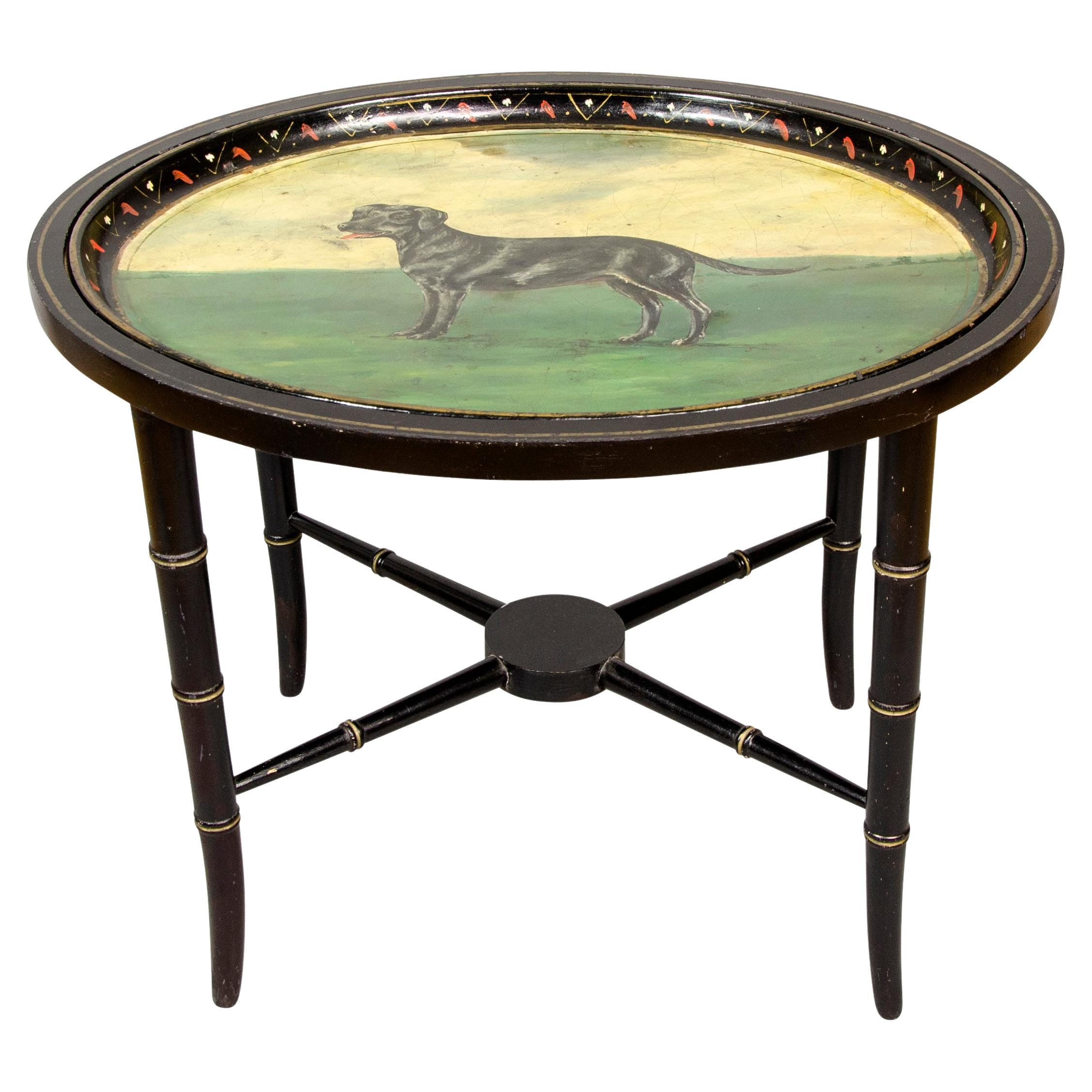 Victorian Tole Tray Table