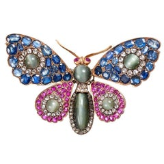 Victorian Tremblant Gemstone Butterfly