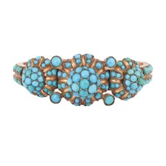 Victorian Turquoise 9 Carat Gold Plated Bracelet