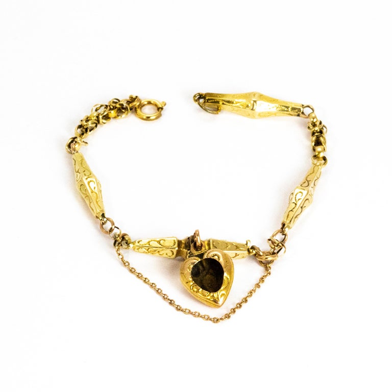 Victorian Turquoise and 9 Carat Gold Bracelet For Sale 3