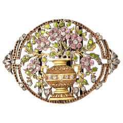 Victorian Two Color Nurses Belt Buckle with Colored Paste, English, circa 1900