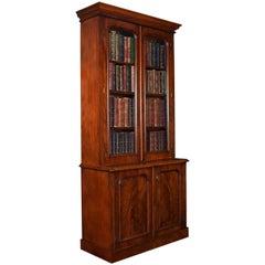 Victorian Two-Door Mahogany Bookcase
