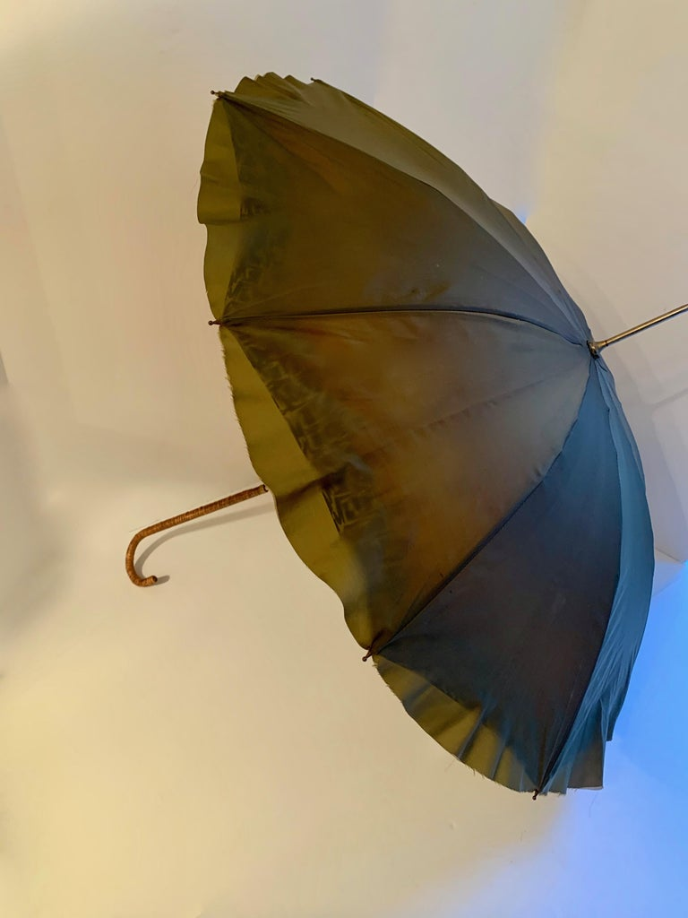 Victorian Umbrella with Cane Handle For Sale 5