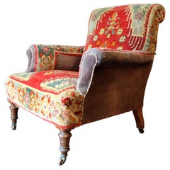Victorian Velvet Carpet Chair