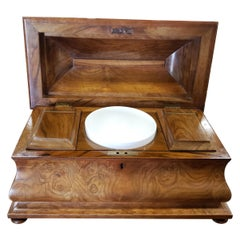 Victorian Walnut and Burl Walnut Tea Caddy