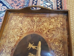 Victorian Walnut and Inlaid Tray