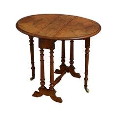 Victorian Walnut Baby Sutherland Table