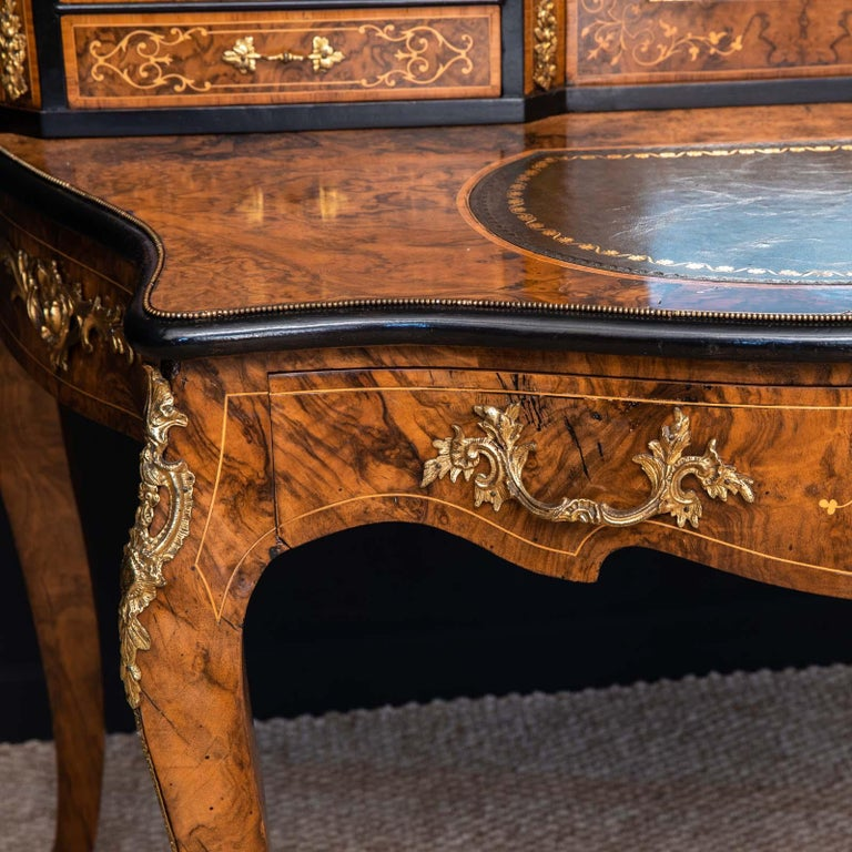 Inlay Victorian Walnut Bonhuer de Jour For Sale
