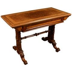 Victorian Walnut Card Table
