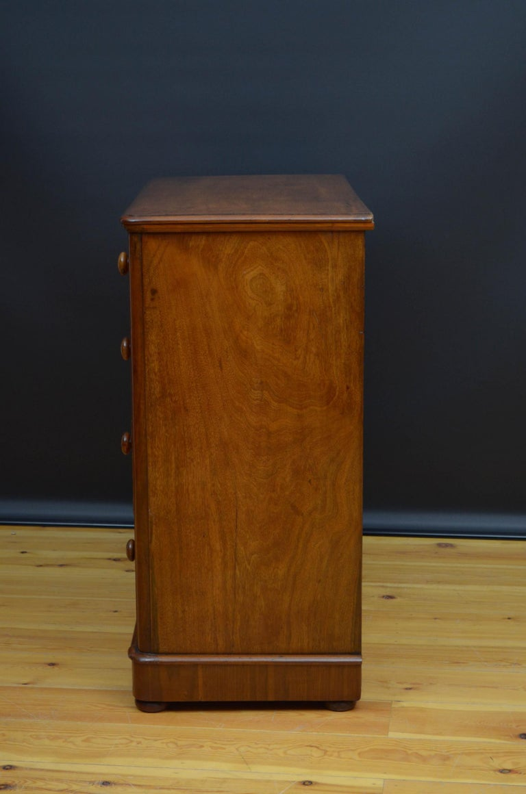 Victorian Walnut Chest of Drawers For Sale 6