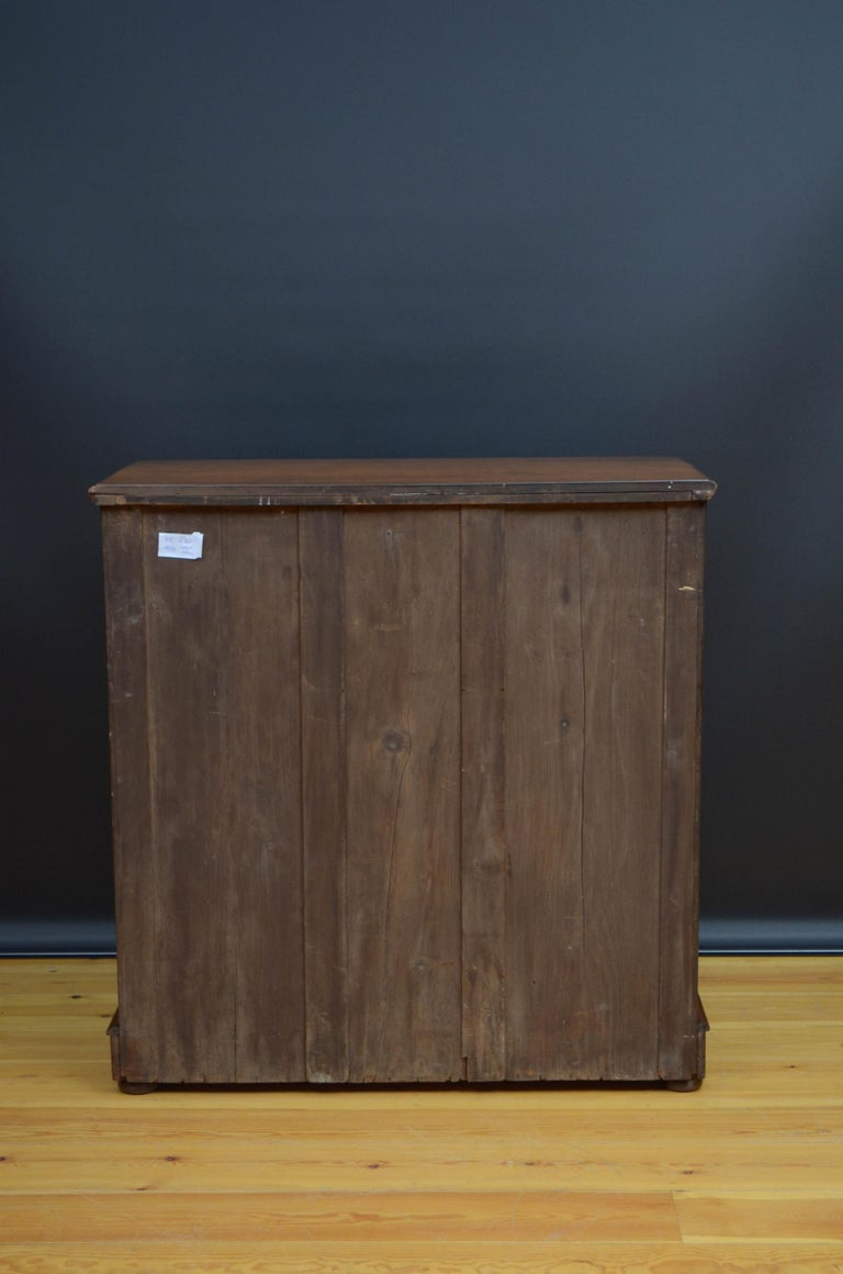 Victorian Walnut Chest of Drawers For Sale 8