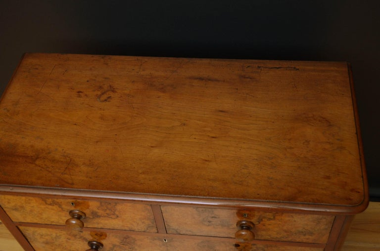 Emirian Victorian Walnut Chest of Drawers For Sale