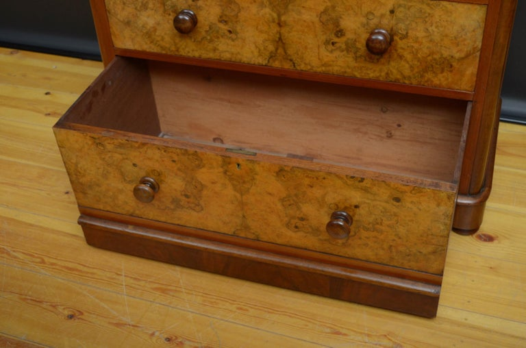 Victorian Walnut Chest of Drawers For Sale 4