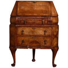 Victorian Walnut Corner Bureau in Queen Anne Style