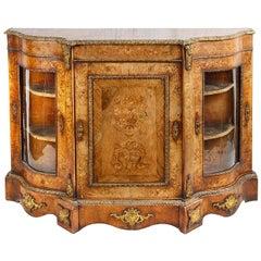 Victorian Walnut Credenza / Sideboard, circa 1880
