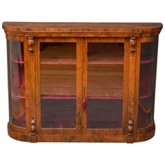 Victorian Walnut Display Cabinet, Credenza