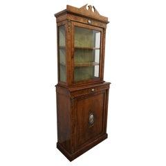 Victorian Walnut Display Cabinet, circa 1870