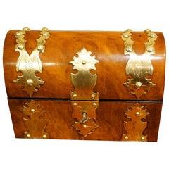 Victorian Walnut Dome Top Box