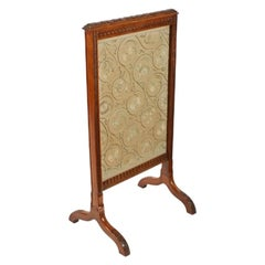 Victorian Walnut Fire Screen, 19th Century