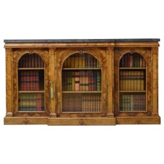 Victorian Walnut Glazed Bookcase