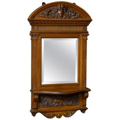 Victorian Walnut Hall Mirror