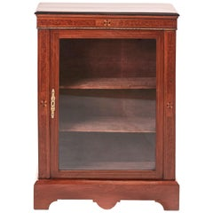 Victorian Walnut Inlaid Display Cabinet