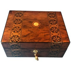 Victorian Walnut Jewellery Box