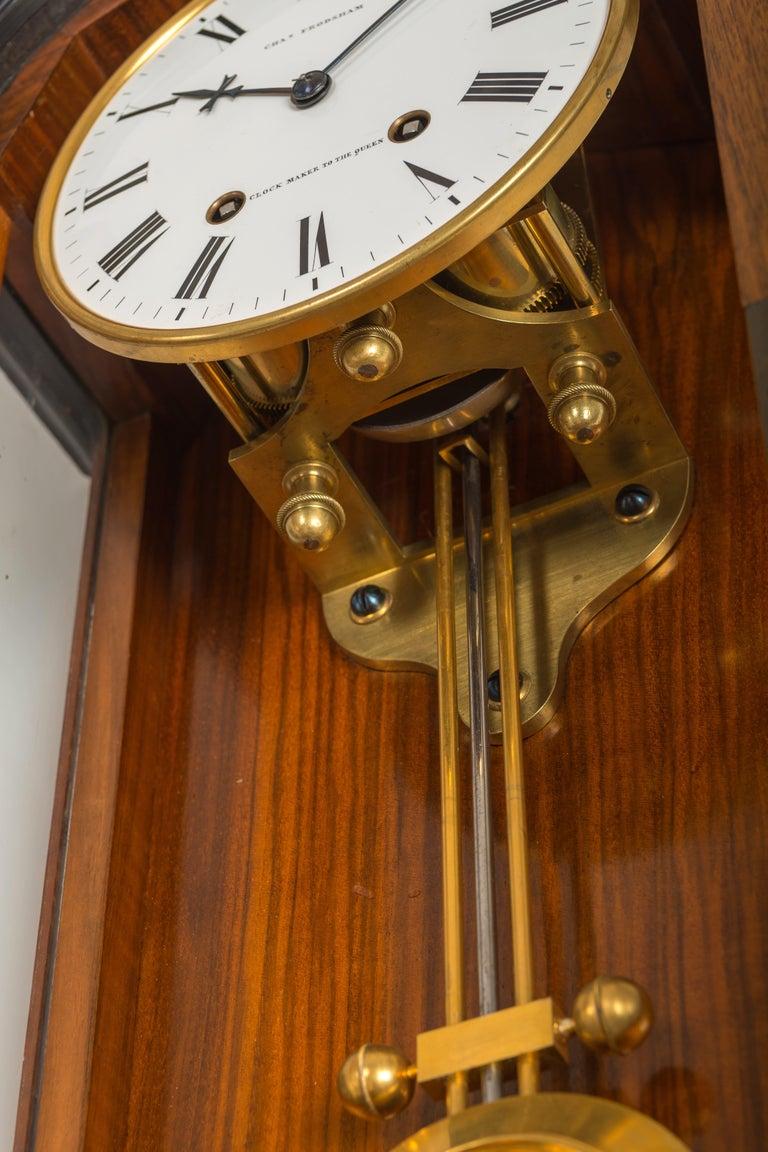Victorian Walnut Month-Duration Semi-Regulator by Charles Frodsham, London