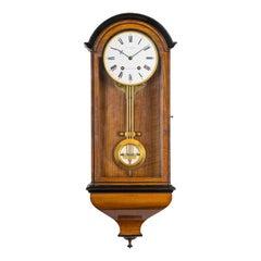 Victorian Walnut Month Semi-Regulator Wall Clock by Charles Frodsham, London