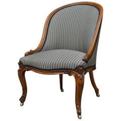 Victorian Walnut Nursing Chair