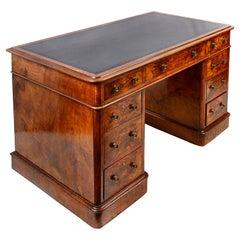 Victorian Walnut Pedestal Desk, circa 1860