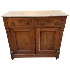 Victorian Walnut Sideboard with Marble Top from Phillips Mansion, Pomona