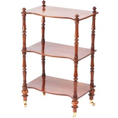 Victorian Walnut Three-Tier Serpentine Fronted Whatnot
