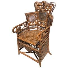 Victorian Wicker Child's Chair