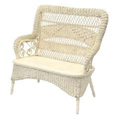 Victorian Wicker Loveseat