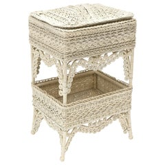 Victorian Wicker Sewing Stand