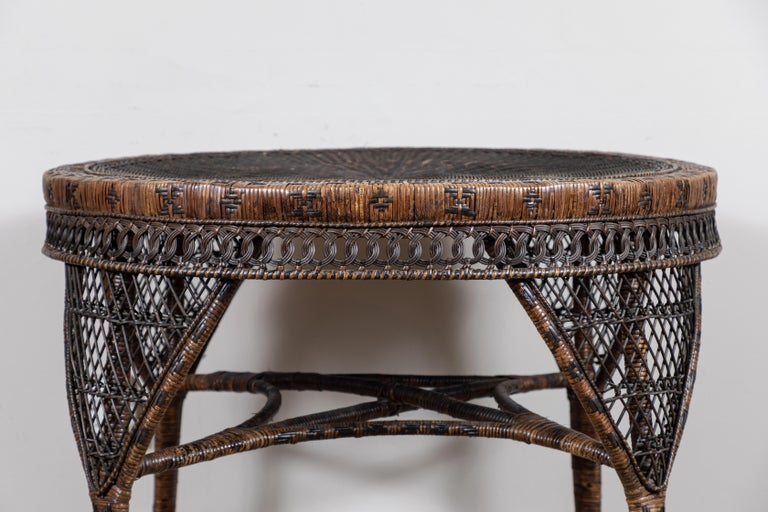American Victorian Wicker Table For Sale