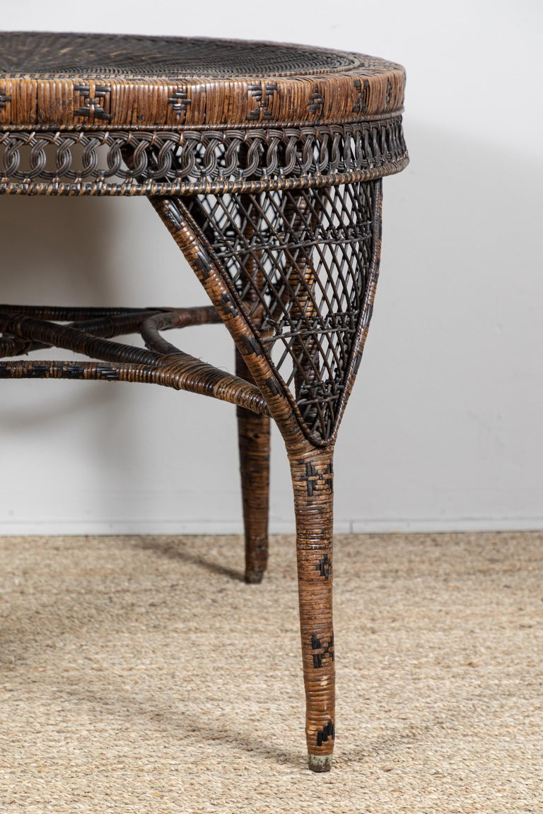 Victorian Wicker Table In Good Condition For Sale In Los Angeles, CA