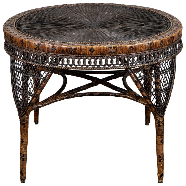 Victorian Wicker Table For Sale