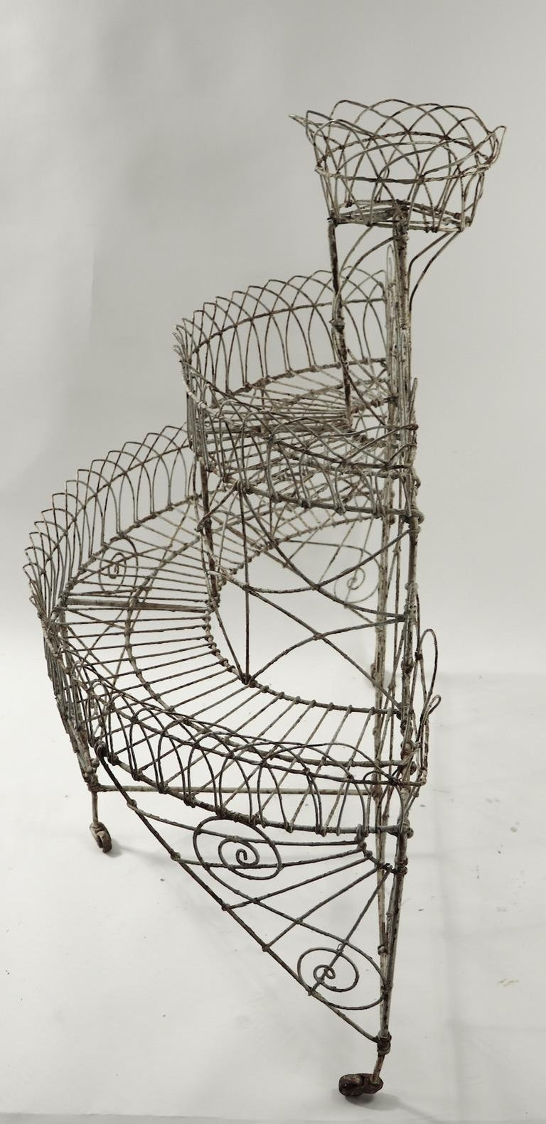 Victorian Wire Plant Stand For Sale 5