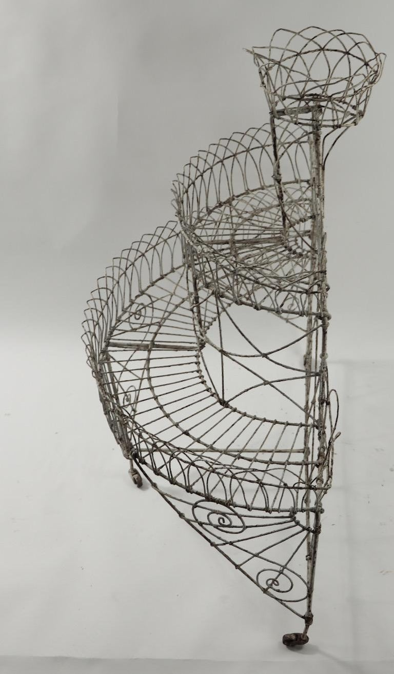 Victorian Wire Plant Stand For Sale 6